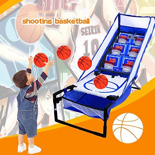Juego de baloncesto electrónico Arcade Juego de baloncesto portátil para interiores para 2 jugadores con puntuación LED y sonidos de arcade Divertido juego de entrenamiento de gol para niños y adultos