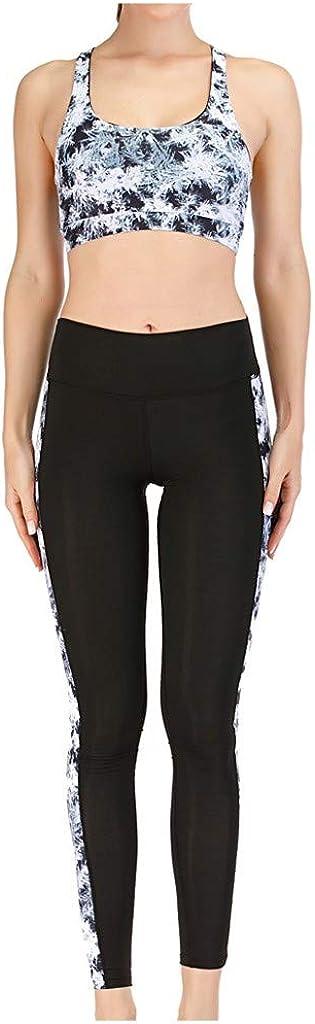 Lady Fashion Stripe Women Fitness Sports Yoga Underwear Yoga Pants Sports Suit Crop Top Vest High Impact Wireless Pants