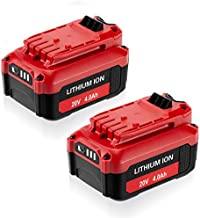 FirstPower 2Packs CMCB202-2 20V 4.0Ah Battery - Replace for Craftsman 20V Lithium Battery CMCB204 CMCB202 CMCB201 - Compatible with Craftsman V20 Series 20V Max Cordless Power Tools