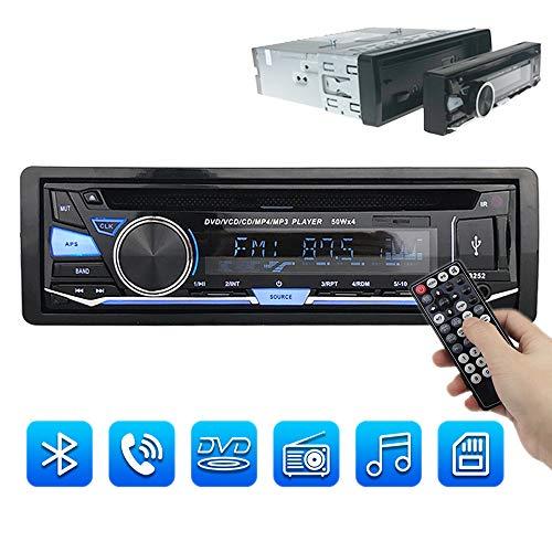PolarLander Universel 1 Din Voiture Stéréo Radio Lecteur Audio Détachable Panneau Avant CD DVD Lecteur MP3 avec FM Aux Entrée SD/Port USB