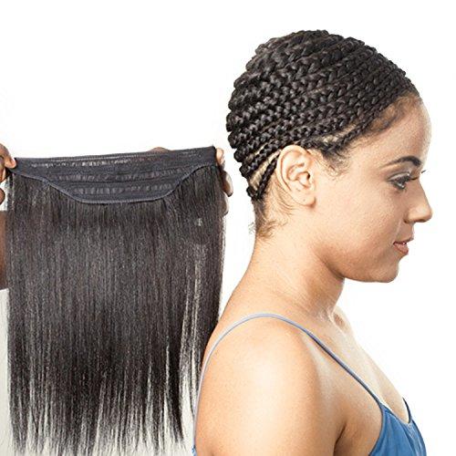 2-Pack DEAL ! SAGA GOLD Remi Human Hair Weave Yaky + Free Nape Hair (10', 1)