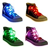 Acmee 6 Pairs LED Shoelaces - High Visibility Soft Nylon Light Up Shoelace with 3 Modes in 6 Colors for Night Safety Running Biking, Or...