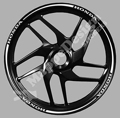 Adesivi cerchi moto scritta per cbr - cbf - hornet - cb wheel strip sticker
