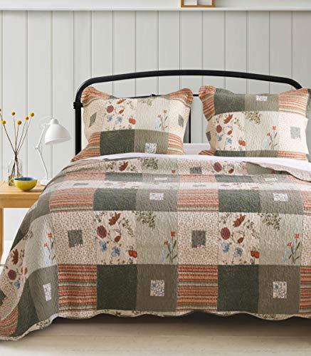 Greenland Home Sedona Quilt Set, 3-Piece Full/Queen, Gray