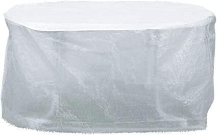 Amazon De Boni Shop Transparente Schutzhulle F Gartenmobel Abdeckung Tisch Ca 125x83
