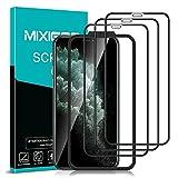 mixigoo 3 Stück Full Screen Panzerglas für iPhone 11 Pro Max/XS Max, 9H Festigkeit Panzerglasfolie mit Positionierhilfe Anti-Bläschen Anti-Kratzen Bildschirmschutz für iPhone 11 Pro Max/XS Max Folie -6.5''