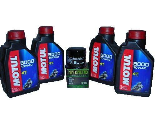 OLIO MOTUL 5000 10W40 4LT+ FILTRO OLIO MOTO