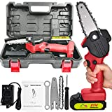 Mini Chainsaw, Chainsaw Chain, Small Electric Battery Powered Chainsaw, Mini Saw, Cordless Chainsaw, Electric Chainsaw 4 Inch Handheld Wood Cutter Chainsaw Sharpener, Power Chain Saws for Tree Pruning