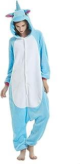 JYSPORT Unicornio Pijama Cosplay Disfraces Animal Ropa Carnaval Halloween Navidad Pijama (unicornio azul- L: Se adapta a la altura 66.1 - 70 inch)