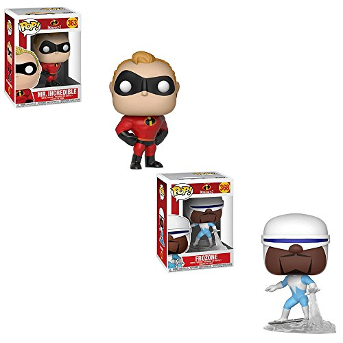 Funko POP Disney Pixar The Incredibles 2 Movie: Mr. Incredible and Frozone Toy Action Figure - 2 POP BUNDLE