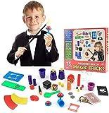 EPCHOO Magic Kit Magic Tricks Set, Over 75 Magic Tricks with Toy Wand Magic Set kit for Kids Beginners Birthday Gift Reward Stage Performance