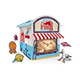 Suck UK Cat Play House   Novelty Cat Kiosk Playhouse   Cat Toy & Accessories   Flat Packed & Easy to Assemble