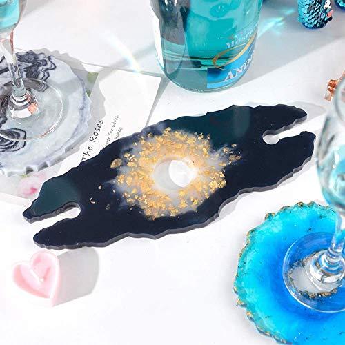 CTRGSM Stampo Irregolare in Resina per Montagne Russe Stampo in Silicone Creativo Stampo per la Fabbricazione di Bicchieri da Piastra Vino portabicchieri, Decorazione Domestica FDWFN