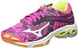Mizuno Wave Lightning Z4 Wos, Chaussures de Volleyball Femme, Rose (Pinkglowhiteirongate), 38.5 EU