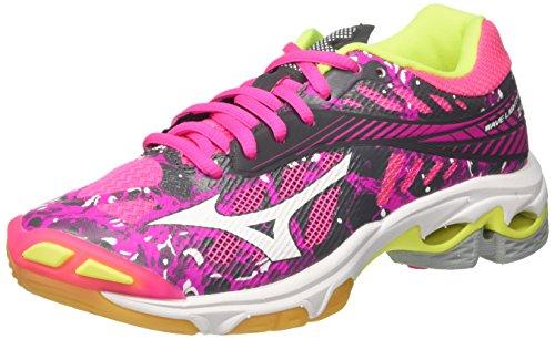 Mizuno Mizuno Damen Wave Lightning Z4 WOS Volleyballschuhe, Pink (Pinkglowhiteirongate), 37 EU