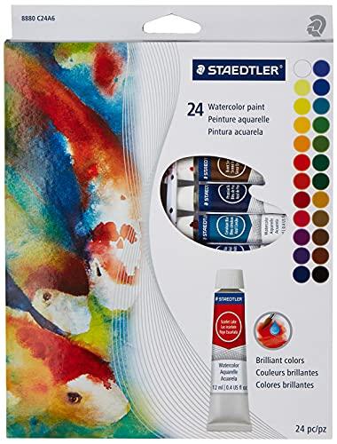 Staedtler Watercolor Paint Set, 0.4 Fl Oz (Pack of 24), 9