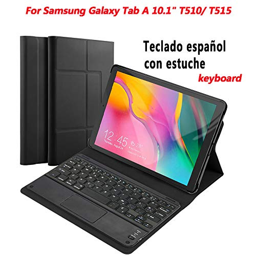 Lusenbo Funda con teclado para Samsung Galaxy Tab A 10.1 2019 SM-T510 / T515, Bluetooth...