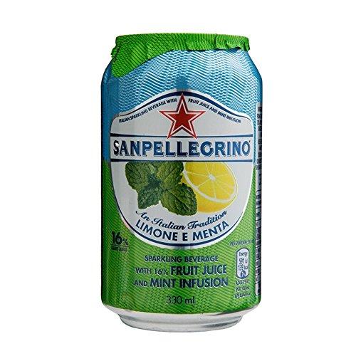 San pellegrino Limone e menta 330 ml Dose Limonade Zitrone und Minze
