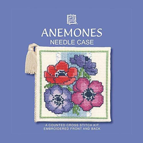 Textile Heritage Needle Case Counted Cross Stitch Kit - Anemones