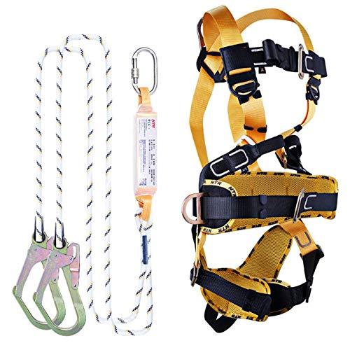 Fallschutz-Set Mit Vollkörper Klettergurt, Outdoor Auffanggurt Sicherheitsgurt Kletterausrüstung für Absturzsicherung Steigschutz für die Bauindustrie Gerüstbau
