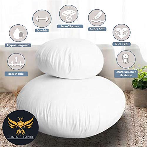 Linen Empire Ltd PACK OF 1 Hollowfibre Filled Cushion Pad Insert/Filler (Round-12)