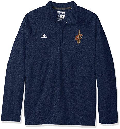 adidas NBA Cleveland Cavaliers Climalite Ultimate - Camiseta de Manga Larga con Cremallera de 1/4, Talla pequeña, Color Azul Marino