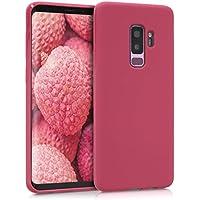 kwmobile Funda Compatible con Samsung Galaxy S9 Plus - Carcasa de TPU Silicona - Protector Trasero en Fucsia Mate