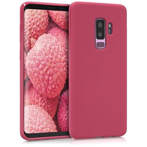 kwmobile Hülle kompatibel mit Samsung Galaxy S9 Plus - Hülle Silikon - Soft Handyhülle - Handy Hülle in Fuchsia matt