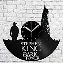 The Dark Tower Wall Clock Vinyl Record Stephen King Movie Room Decor Stephen King's The Dark...