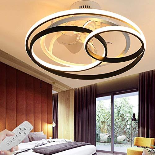 Moderne Deckenventilatoren mit Lampen, Ventilator Deckenleuchte mit LED-Beleuchtung Dimmbare Deckenleuchte mit Fernbedienung Einstellbare Windgeschwindigkeit Schlafzimmer