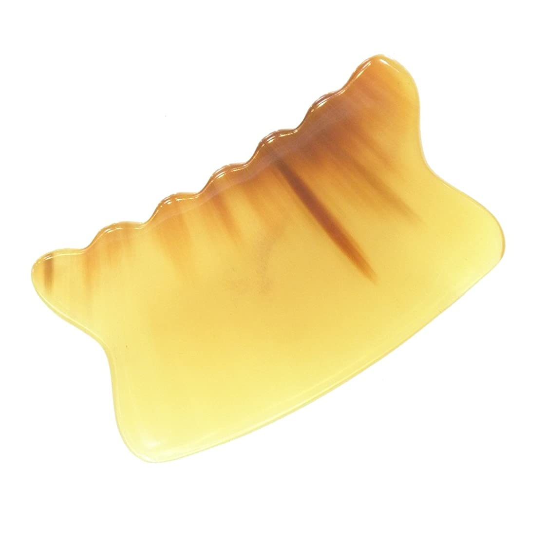 宿命セーターステートメントかっさ プレート 厚さが選べる 水牛の角(黄水牛角) EHE226SP 曲波型 特級品 厚め(6ミリ程度)