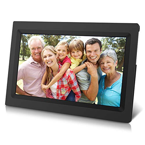 """10"""" HD IPS Display Wi-Fi Cloud Frame, Touchscreen, Increased 20GB Free Cloud Storage, APP Send Real-time Photos, Social Media, Streaming Music and Movie"""