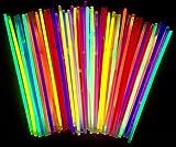 molinoRC | 50Mutila luminiscente Varillas | Pulseras | Glow Stick | Party Luces | Neon Rojo Amarillo Verde Rosa Naranja Azul | Premium Luces, Leuchten Eternidad | Deutsche Marca Express Envío BRD