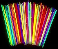 Premium Qualität   Sehr hohe Leuchtdauer   sehr hell   gut und sicher 50 Knicklichter in den Farben rot gelb grün blau orange pink inclusive Verbindungsstücken   kräftige Farben   viel Freude und Spaß 200x5mm - jetzt noch heller, neues Modell 2020   ...