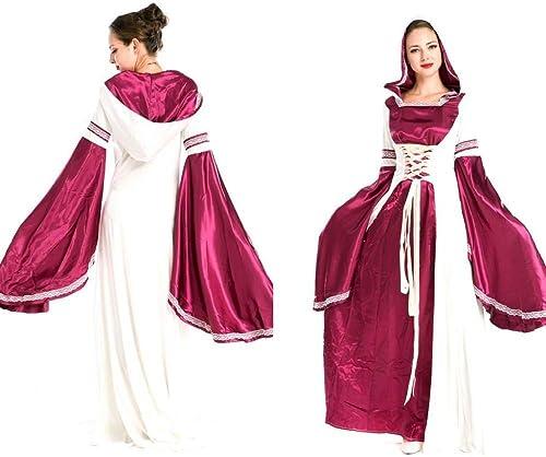 Olydmsky karnevalskostüme Damen Halloween Queen Kleid lila Retro Palace Kostüm Prinzessin Kleid