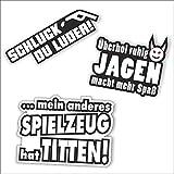 folien-zentrum 3 Aufkleber Set Tuning Auto Shocker Hand JDM OEM Dub Decal Stickerbomb Bombing...