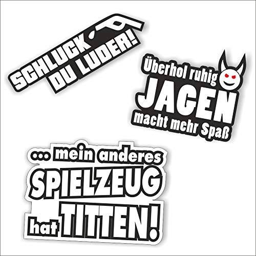 folien-zentrum 3 Aufkleber Set Tuning Auto Shocker Hand JDM OEM Dub Decal Stickerbomb Bombing Sticker Illest Dapper Fun Oldschool Motorrad Quad Roller