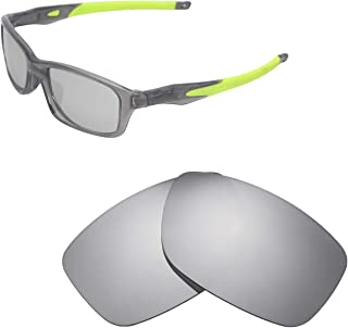 Walleva Replacement Lenses for Oakley Crosslink 55 (OX8030 Series) Sunglasses - Multiple Options