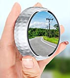 TTYJWDWY 2 pair Car Blind Spot Mirror,360-degree Adjustable Wide View Field Auxiliary Blind Spot Mirror,universal Suction Cup Rear View Car Small Round Mirror(Black+silver)