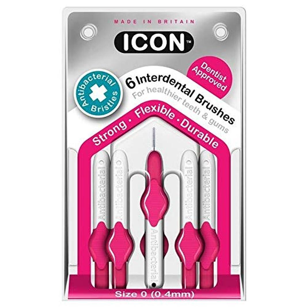 フィクションストレスの多いジム[Icon ] アイコンの歯間には、パックあたり0.4ミリメートル6ブラシ - Icon Interdental Brushes 0.4mm 6 per pack [並行輸入品]