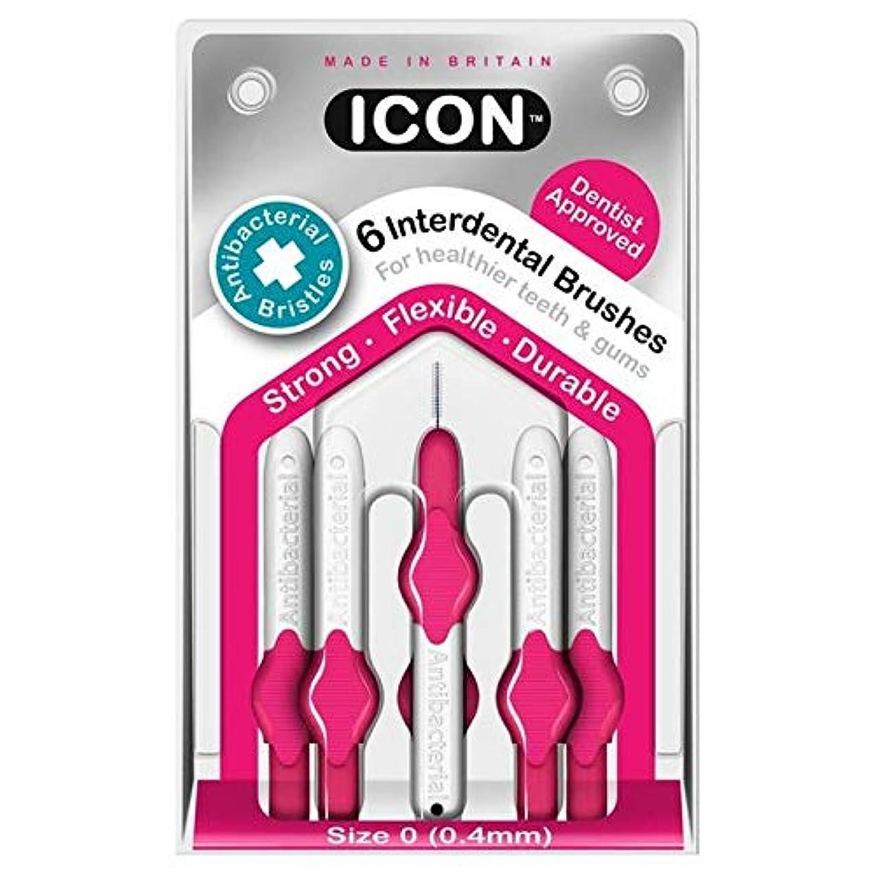 余暇挑む役割[Icon ] アイコンの歯間には、パックあたり0.4ミリメートル6ブラシ - Icon Interdental Brushes 0.4mm 6 per pack [並行輸入品]