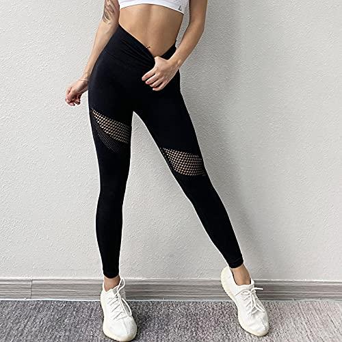 ShFhhwrl Mujer Leggins Pantalones De Yoga Negros De Cintura Alta para Mujer, Mallas Sexis De Malla, Pantalones De Mujer, Mallas De Gimnasio, Ropa Deportiva Par