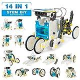 Pickwoo 14 in 1 Solar Roboter Bausatz Set Kinder, STEM Spielzeug Konstruktion Bauset, Educational...