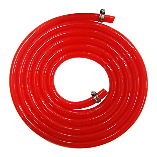 Homebrewing Kit CO2 Gas Line - Brand Luckeg including Gas Hose 5/16 inch ID, 9/16 inch OD,10ft Length, 2 PCS Stainless Steel Worm Clamp, used for Beer Keg, Beer Kegerator, Quality Guarantee