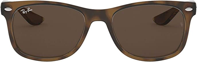 Ray-Ban Unisex-Child New Wayfarer Junior Sunglass 0RJ9052S Square Sunglasses, BLACK 100/71, 47 mm