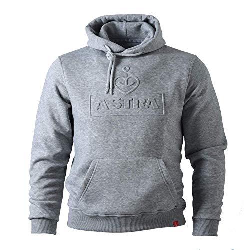 ASTRA Hoodie Unisex, mit geprägtem Herzanker-Motiv, bequemer Pullover mit Kapuze, Cooler Kapuzen-Pulli, für Damen & Herren, Grauer Sweater aus St.Pauli (XXL)
