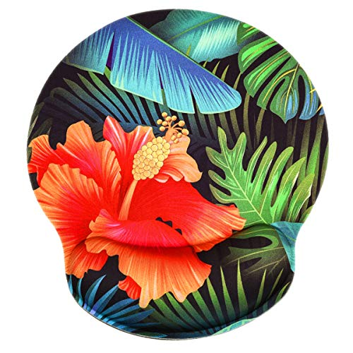 Small Mouse Pad with Wrist Support,iKammo Gaming Colorful Flower Desk Mouse Pad Memory Foam Non Slip Gel Wrist Rest Mouse Pad for Gaming,Working,Office & Home (Color 9)