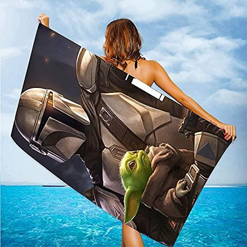 Proxiceen Toalla de playa de microfibra grande de Star Wars, toalla de ducha, toalla de playa antiadherente, de secado rápido, toalla de playa de viaje (A1,75 x 150 cm)
