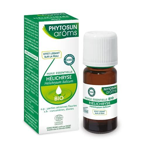 Phytosun Arôms - Huile Essentielle d'Hélichryse Bio - 100% pure et naturelle - Effet Lissant sur la Peau - 5ml