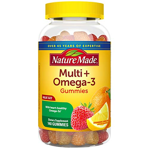 Nature Made Multivitamin + Omega-3 Gummies, 140 Count Value Size for Daily Nutritional Support